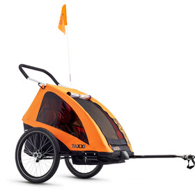 s'cool taXXi Pro - Remorque vélo Enfant - For Two orange